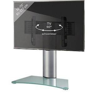 VCM my media TV-Ständer Windoxa Maxi silber, mattglas