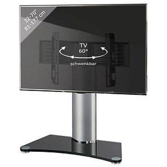 VCM my media TV-Ständer Windoxa Maxi silber, schwarzglas