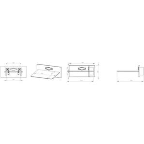 VCM Paneelserie Xeno-1 in Schwarzglas | HiFi-Halterung für Receiver, DVD-Player etc. (Grünlack/Schwarzglas)