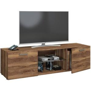 VCM TV Lowboard Fernseh Schrank Möbel Tisch Holz Sideboard Medien Rack Bank Kern-nussbaum 40 x 140 x 36 cm Lowina
