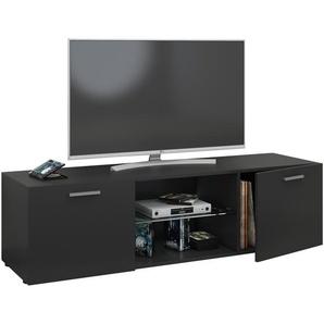 VCM TV Lowboard Fernseh Schrank Möbel Tisch Holz Sideboard Medien Rack Bank Schwarz 40 x 140 x 36 cm Lowina