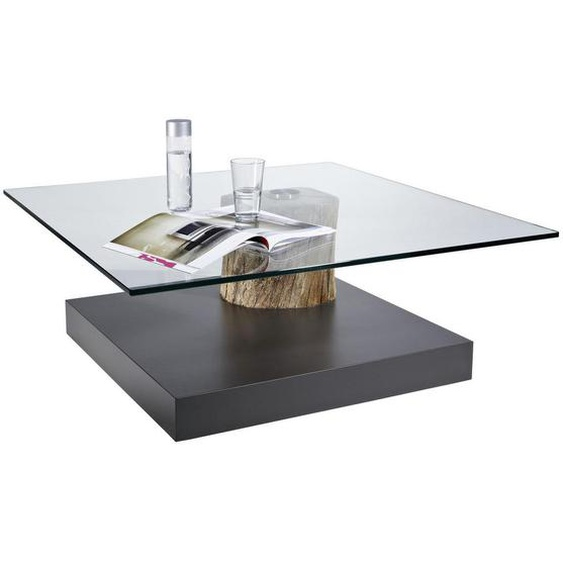 Venjakob Couchtisch Altholz massiv quadratisch Grau , Kunststoff , Altholz,Altholz , massiv , 100x39x100 cm