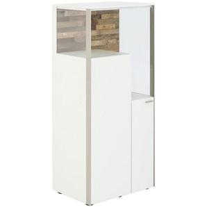 Venjakob: Highboard, Holzwerkstoff, Weiß, B/H/T 62 139 43