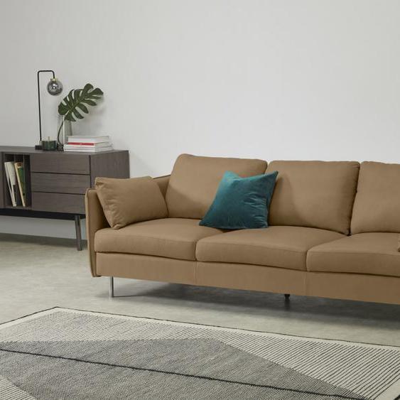 Vento 3-Sitzer Sofa, Leder in Blassbraun