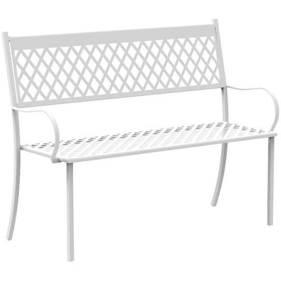 Vermobil Summertime 2-Sitzer Bank 127x56x93 cm Stahl Weiß