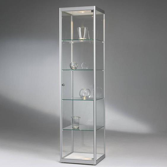 VERSUS 300 Standvitrine, Silber