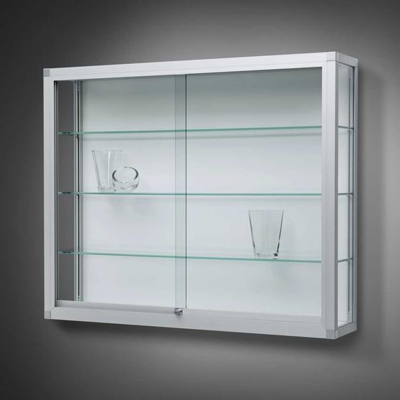 VERTUM 100 Wandvitrine mit Glasschiebet�ren, Profilrahmen gerundet, b102xh100xt25cm