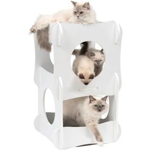 Vesper Tierbett CA Condo, Katzenhoehle, BxLxH: 49x49x80 cm B/H/L: 49 x 80 weiß Katzenkörbe -kissen Katze Tierbedarf