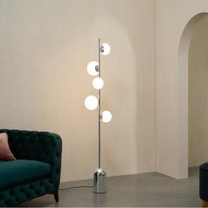 Vetro Stehlampe, Chrom und Milchglas