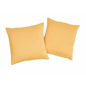 Vhg Kissenhülle »Leon«, 2x 40x40 cm, gelb, blickdichter Stoff