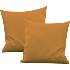 Vhg Kissenhülle »Leon«, 2x 50x50 cm, gelb, blickdichter Stoff
