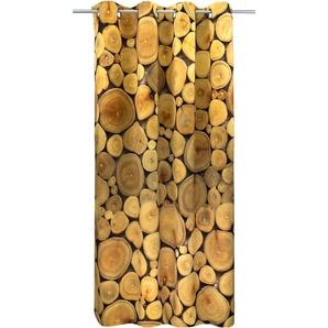 Vhg Vorhang »Jahresringe Natur«, H/B 285/145 cm, grau