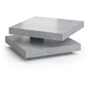 Vicco Couchtisch »ELIAS beton 360° drehbar 78 x 78 x 34 cm Wohnzimmertisch Tisch«