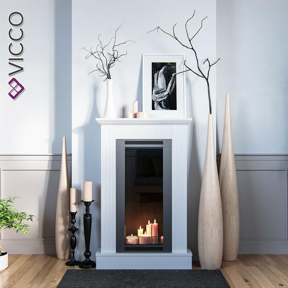 Vicco Kaminumrandung Shabby Landhaus-stil Kaminkonsole 110x70 Cm Weiß