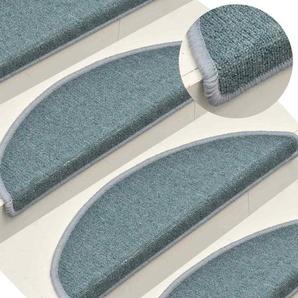 Vidaxl 15x Treppenmatten Blau 65x24x4cm Stufenmatten Treppenteppich