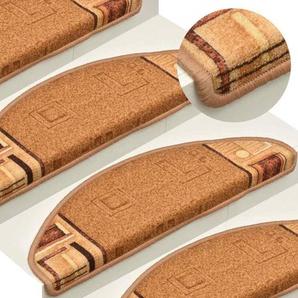 Vidaxl 15x Treppenmatten Selbstklebend Beige 65x21x4cm Stufenmatten