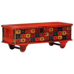 vidaXL Couchtisch »vidaXL Aufbewahrungstruhe Rot 110 x 40 x 40 cm Massivholz Akazie«