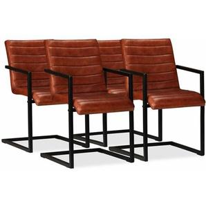 vidaXL 2//4//6x Esszimmerstuhl Rot Grau Küchenstuhl Polsterstuhl Armlehne Stuhl