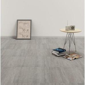 vidaXL Fußboden »vidaXL PVC Laminat Dielen Selbstklebend 5,11 m² Grau Gepunktet«