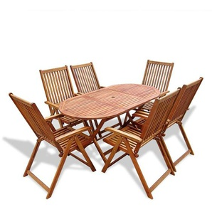 Gartenmöbel 7-tlg. Akazienholz Sitzgruppe Gartengarnitur Gartenset - VIDAXL
