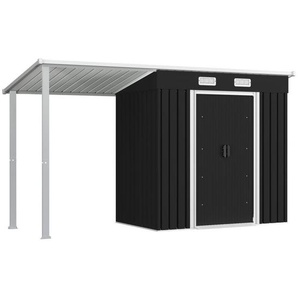 vidaXL Gerätehaus »vidaXL Gerätehaus mit Vordach Stahl Geräteschuppen Gartenhaus mehrere Auswahl«
