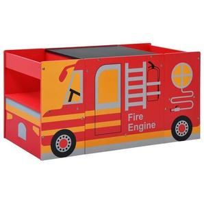 vidaXL Kindertisch »vidaXL 3-tlg, Kindertisch- und Stuhl-Set Feuerwehrauto-Design Holz«