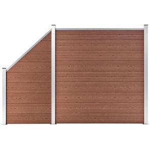 vidaXL Zaun »vidaXL WPC Zaun-Set 1 Quadrat + 1 Schräge 273x186 cm Braun«