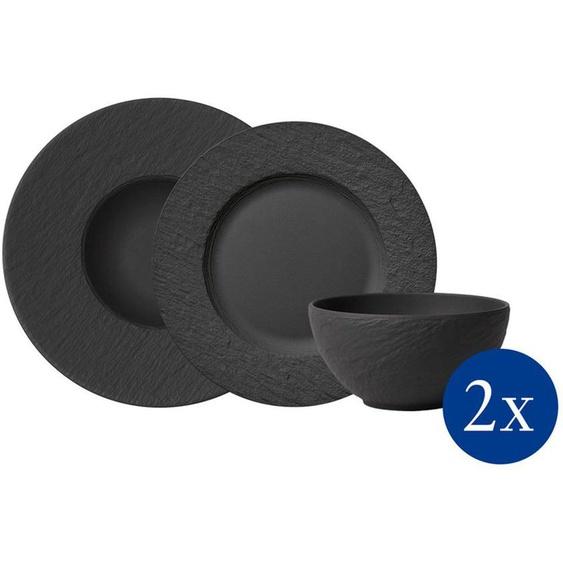 Villeroy & Boch Geschirr-Set »Manufacture Rock Starter« (6-tlg), Porzellan