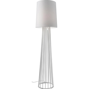 Villeroy & Boch Stehlampe Mailand, E27 1 flg., Ø 40 cm Höhe: 155 weiß Standleuchten Stehleuchten Lampen Leuchten