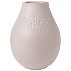 Villeroy & Boch Tischvase »Manufacture Collier beige«, Manufacture Collier hohe Vase, Perle, Beige
