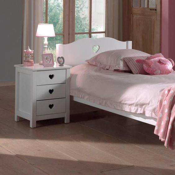 Vipack Bett Amori 90x200 cm weiß Kinder Jugendbetten Jugendmöbel Kindermöbel Betten