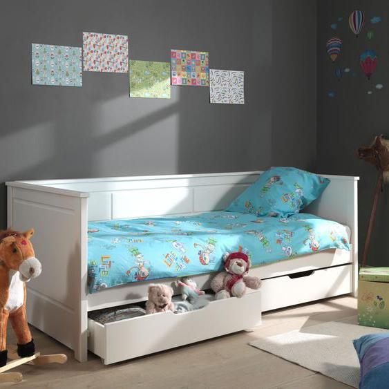 Vipack Daybett Pino, mit 2 Schubladen Liegefläche B/L: 90 cm x 200 Betthöhe: 30 cm, Gewicht, ohne Matratze weiß Tagesbetten Gästebetten Betten