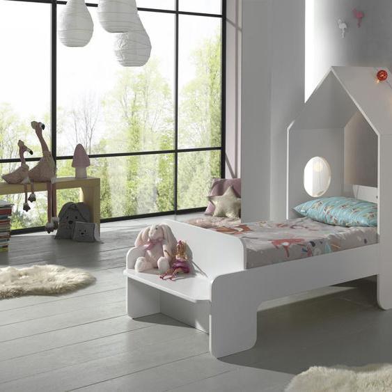 Vipack Hausbett Casami, mit Rollrost Liegefläche B/L: 70 cm x 140 Betthöhe: 36 cm, Gewicht, ohne Matratze weiß Kinder Kinderbetten Kindermöbel