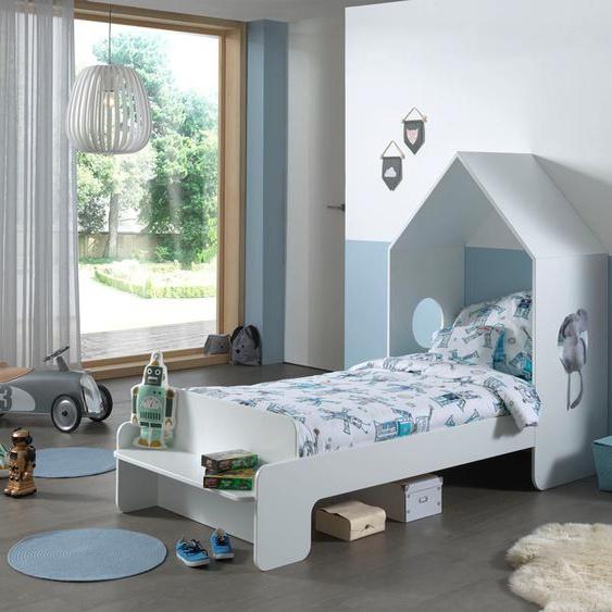 Vipack Hausbett Casami, mit Rollrost Liegefläche B/L: 90 cm x 200 Betthöhe: 36 cm, Gewicht, ohne Matratze weiß Kinder Kinderbetten Kindermöbel