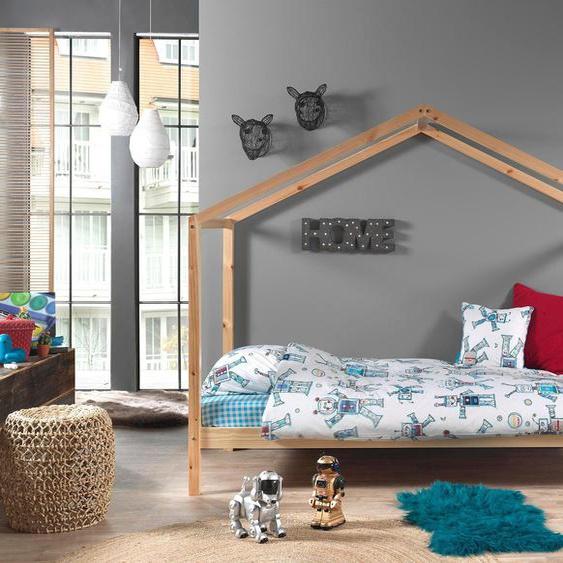 Vipack Hausbett Dallas 90x200 cm, ohne Matratze beige Kinder Kinderbetten Kindermöbel Betten