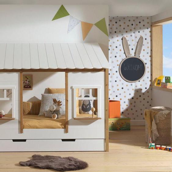 Vipack Hausbett, mit Lattenrost, wahlweise Bettschublade