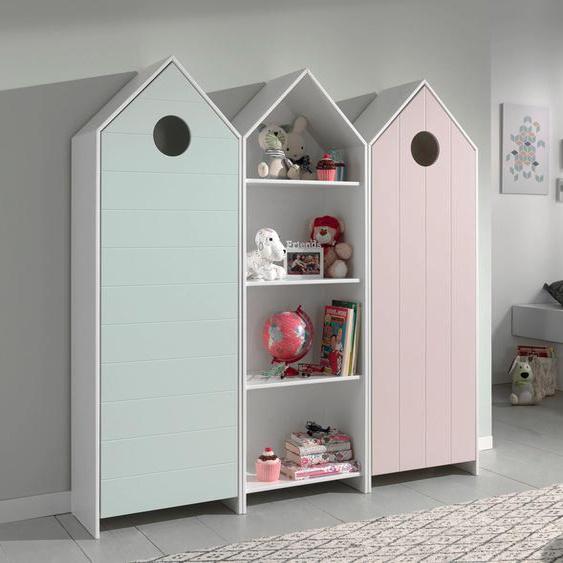 Vipack Jugendzimmer-Set Casami, (Set, 3 tlg.) Einheitsgröße bunt Kinder Komplett-Kinderzimmer Kindermöbel Schlafzimmermöbel-Sets