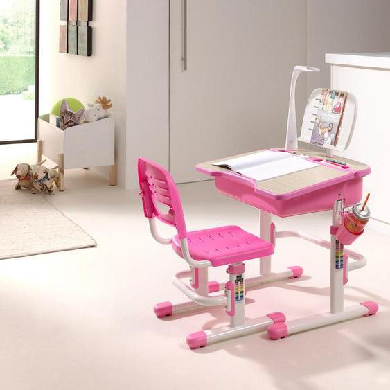Vipack Kinderschreibtisch Comfortline, (Set, mit Stuhl), ergenomisch höhenverstellbar Tischplatte: ABS-Kunststoff MDF, Gestell: Metall, 70,5x54,5 cm weiß Schreibtische Bürotische und Büromöbel Tisch