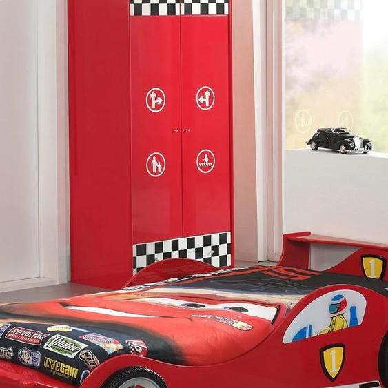 Vipack Kleiderschrank, 2-türig, Einheitsgröße rot Kinder Kinderschränke Kindermöbel Schränke