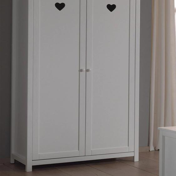 Vipack Kleiderschrank Amori 110 x 190 57 (B H T) cm, 2-türig weiß Kinder Kinderschränke Kindermöbel Schränke