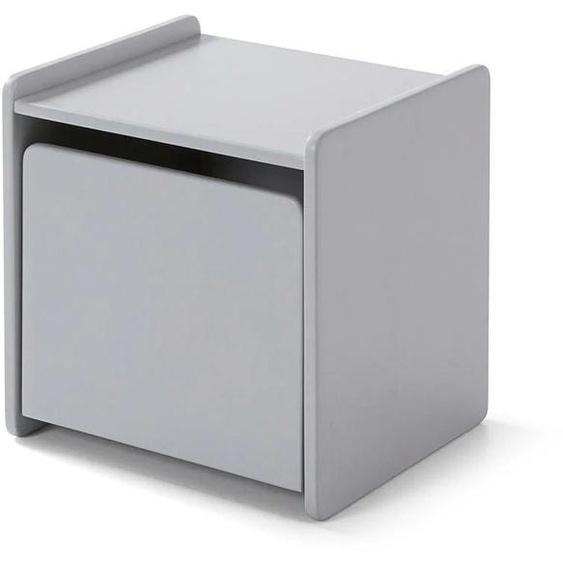 Vipack Nachtkonsole Kiddy, MDF-Oberfläche 40x36x40 cm grau Kinder Kindernachttische Kindermöbel Sideboards