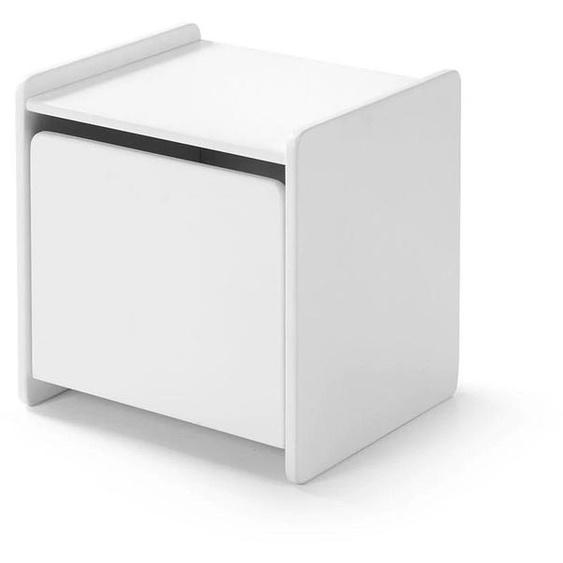 Vipack Nachtkonsole Kiddy, MDF-Oberfläche 40x36x40 cm weiß Kinder Kindernachttische Kindermöbel Sideboards