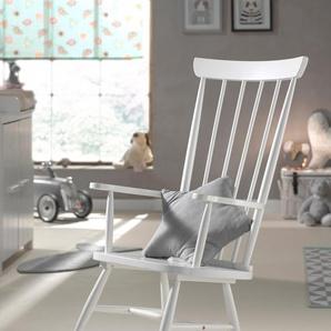 Vipack Schaukelstuhl Rocky, aus Massivholz B/H/T: 69 cm x 124 85 weiß Schaukelstühle Stühle Sitzbänke