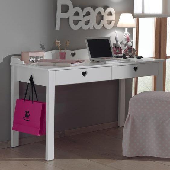 Vipack Schreibtisch Amori Tischplatte: Holzwerkstoff, Gestell: Holzwerkstoff weiß Kinder Kinderschreibtische Kindermöbel Tisch