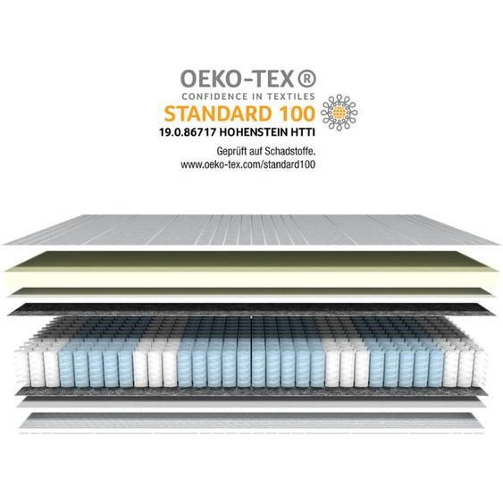 Visco-Taschenfederkernmatratze - 180x200 cm - H3