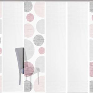 Vision S Schiebegardine 6ER SET BORDEN, HxB: 260x60, Schiebevorhang 6er Set Digitaldruck 260 cm, Paneelwagen, 60 cm rosa Wohnzimmergardinen Gardinen nach Räumen Vorhänge