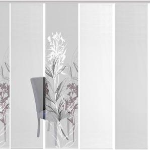 Vision S Schiebegardine 6ER SET SEMORA, HxB: 260x60, Schiebevorhang 6er Set Digitaldruck 260 cm, Paneelwagen, 60 cm grau Wohnzimmergardinen Gardinen nach Räumen Vorhänge