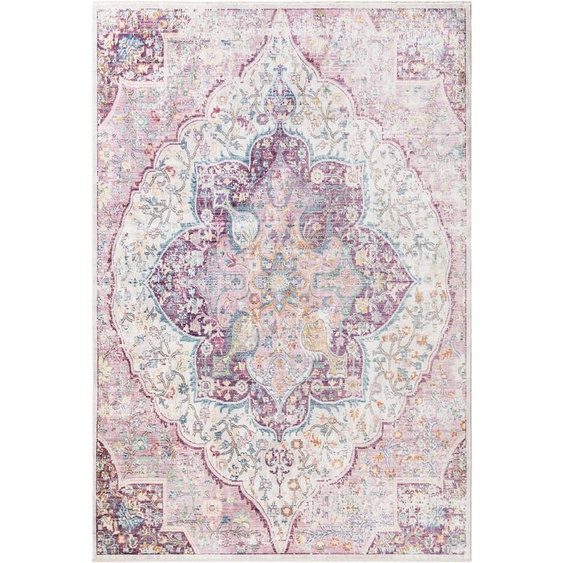 Viskoseteppich Yuma Multicolor/Pink 200x300 cm
