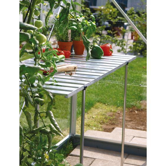 Vitavia Abklappbarer Alu-Tisch für Gewächshäuser silbern