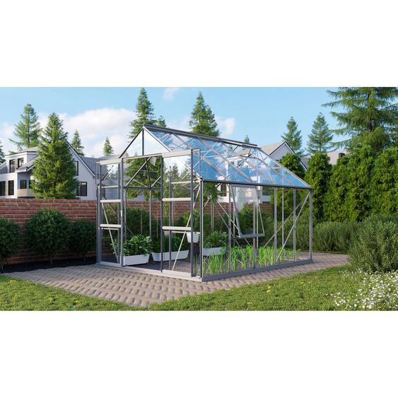 Vitavia Gewächshaus Meridian 2 8300 3 mm aluminiumfarben 254 x 317 cm
